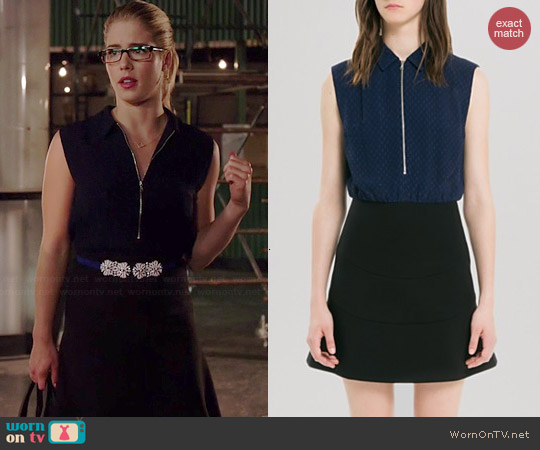 Sandro Raison Dress worn by Emily Bett Rickards on Arrow
