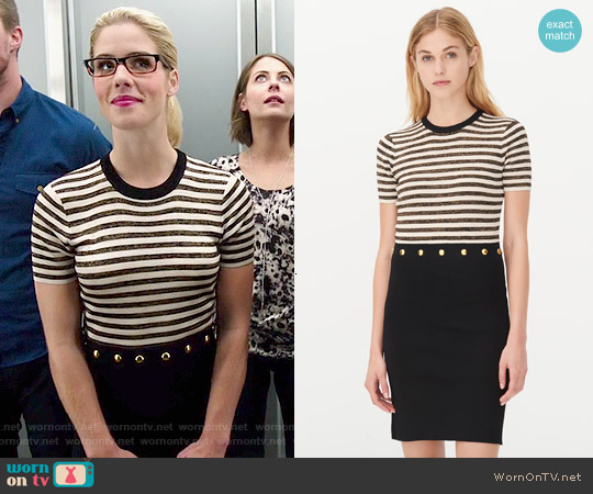 Sandro Redlake Dress worn by Emily Bett Rickards on Arrow