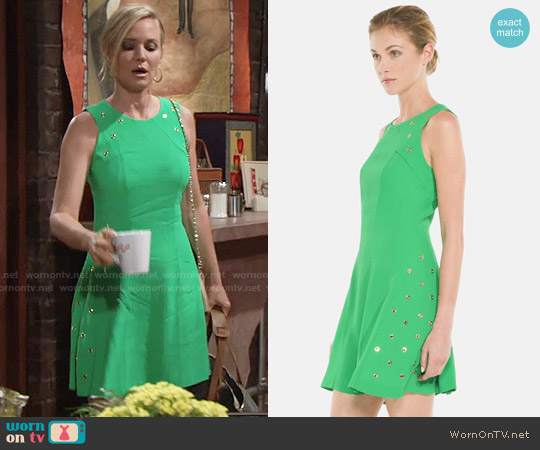 Sandro Reptile Dress worn by Sharon Case on The Young & the Restless