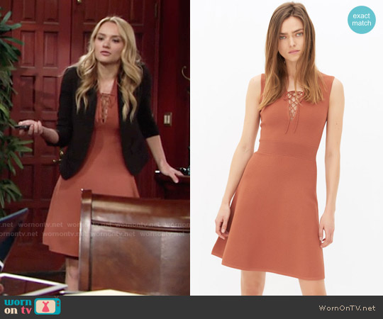 Sandro Rikka Dress worn by Hunter King on The Young & the Restless