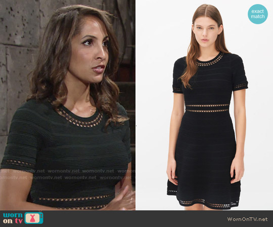Sandro Riley Dress worn by Christel Khalil on The Young & the Restless