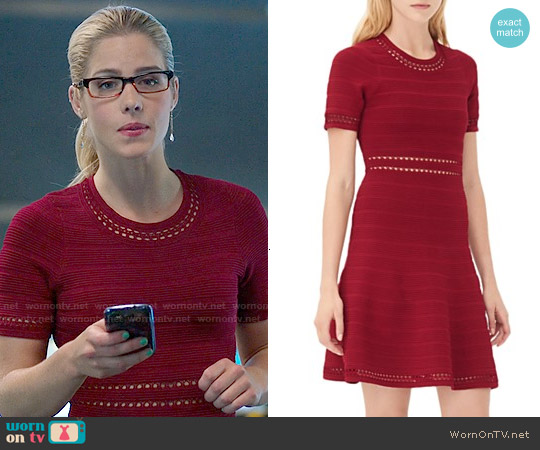 Sandro Riley Dress worn by Emily Bett Rickards on Arrow