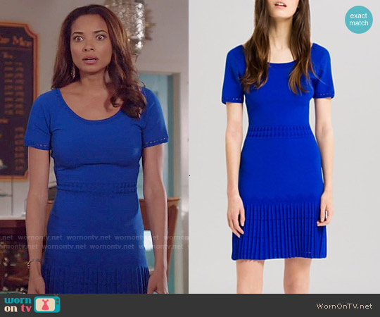 Sandro Rosemary Knit Dress worn by Rochelle Aytes on Mistresses