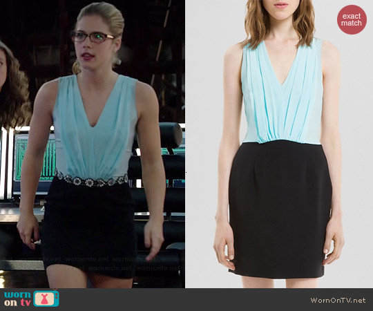 Sandro Roxane Dress worn by Emily Bett Rickards on Arrow