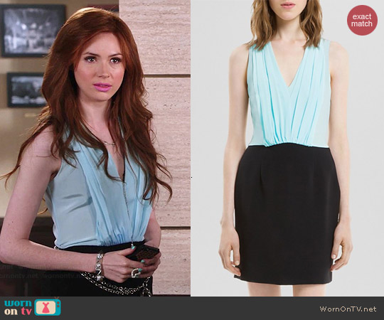 Sandro Roxane Dress worn by Karen Gillan on Selfie