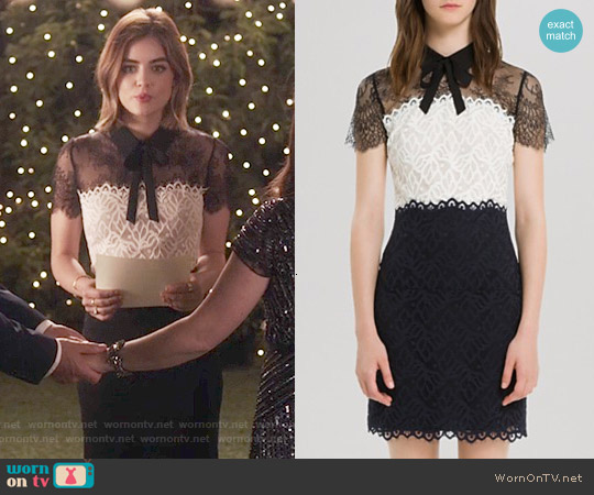 Sandro Rozen Dress worn by Lucy Hale on PLL