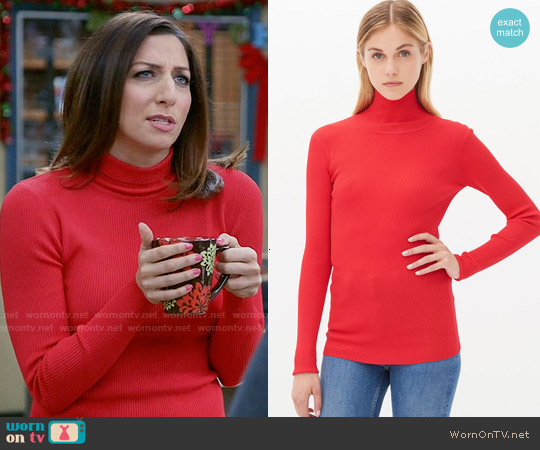 Sandro Sirine Sweater in Red worn by Chelsea Peretti on Brooklyn Nine-Nine