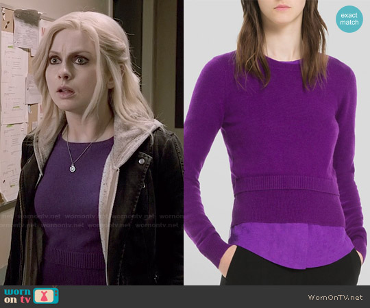 Sandro Sonic Sweater worn by Rose McIver on iZombie