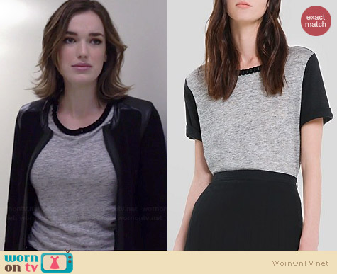 Sandro Taki Tee worn by Elizabeth Henstridge on Agents of SHIELD