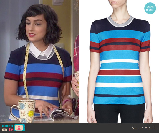 Sandro Tam Stripe Knit T-shirt worn by  Molly Ephraim on Last Man Standing