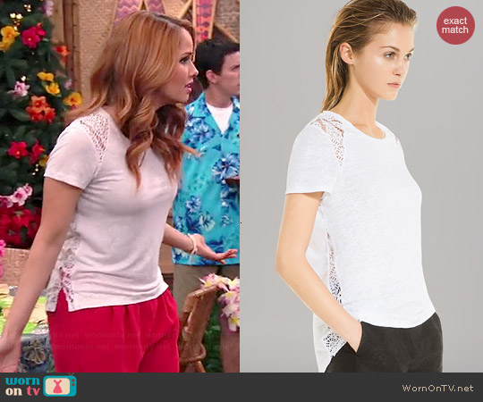 Sandro Tanger Lace Top worn by Debby Ryan on Jessie