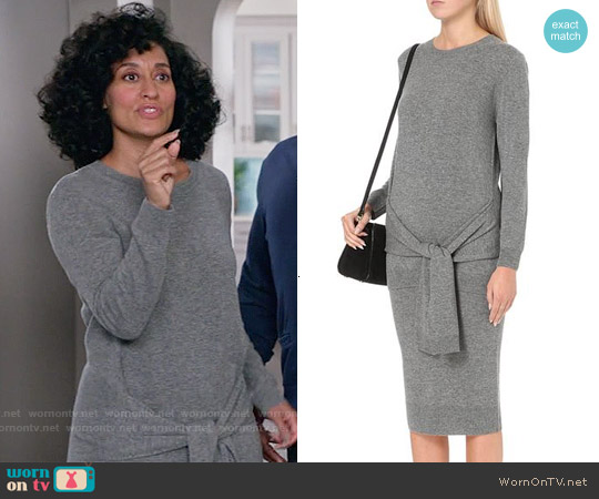 Sandro Tie Waist Sweater Dress worn by Tracee Ellis Ross on Blackish