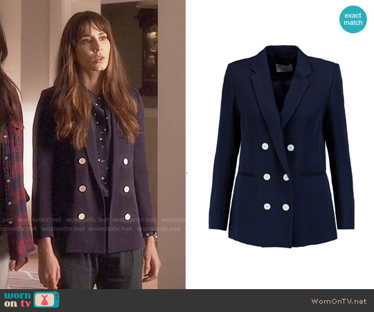 Sandro Vice Twill Blazer worn by Spencer Hastings on PLL