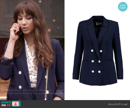Sandro Vice Twill Blazer worn by Troian Bellisario on PLL