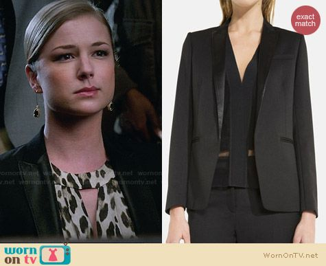 Sandro Virtuose Blazer worn by Emily VanCamp on Revenge
