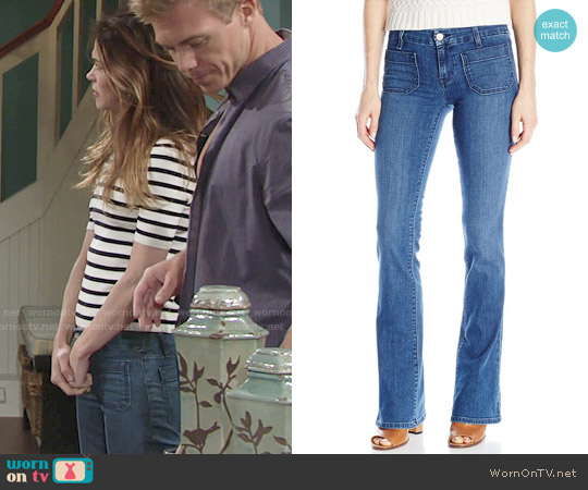 Sanctuary 'Marianne' Flare Jeans worn by Victoria Newman on The Young & the Restless