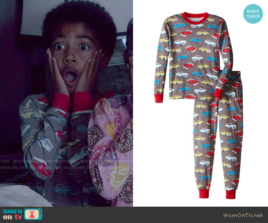 Sara's Prints Boys Retro Cars Pajamas worn by Miles Brown on Blackish