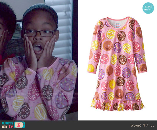 Sara's Prints Girls' Cotton Puffed Sleeve Gown worn by Marsai Martin on Blackish