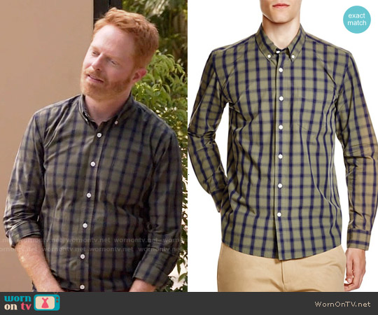 Saturdays Surf NYC Crosby Check Regular Fit Button Down Shirt worn by Jesse Tyler Ferguson on Modern Family
