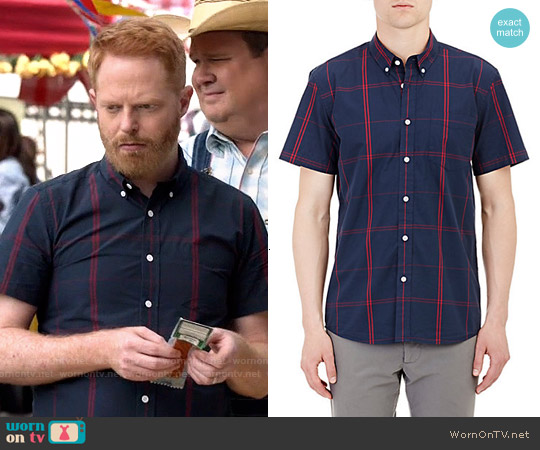 Saturdays Surf NYC Short-Sleeve Shirt worn by Jesse Tyler Ferguson on Modern Family