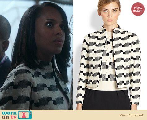 Scandal Fashion: Akris Wool and Jacquard Jacket worn by Kerry Washington