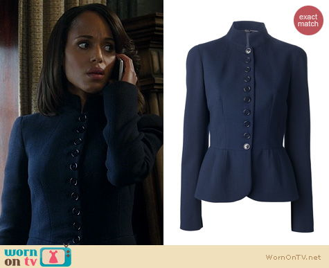 WornOnTV: Olivia's navy button front jacket on Scandal | Kerry ...