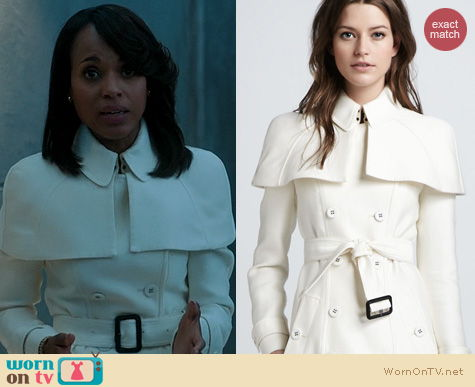 Scandal Fashion: Burberry Caped Duchess Trench Coat worn by Kerry Washington