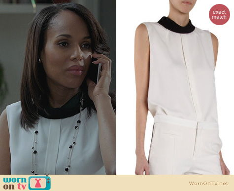 Scandal Fashion: Chloe Contrast Mock Neck Top worn by Kerry Washington