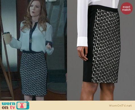 Fashion of Scandal: Diane von Furstenberg Alyce Skirt worn by Darby Stanchfield