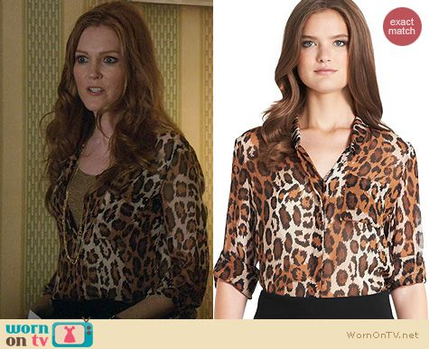 Fashion of Scandal: Diane von Furstenberg Lorelei blouse worn by Darby Stanchfield