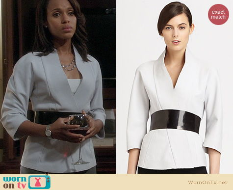 Scandal Fashion: Donna Karan Belted Kimono Jacket worn by Kerry Washington