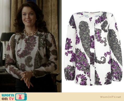 Fashion of Scandal: Giambattista Valli print blouse worn by Bellamy Young