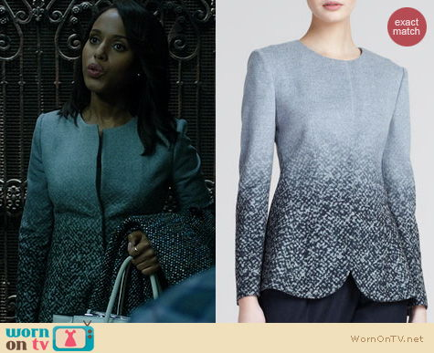 Fashion of Scandal: Giorgio Armani Degrade Print jacket worn by Olivia Pope