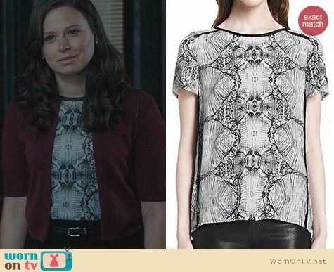 Scandal Fashion: J Brand Milanda top worn by Katie Lowes