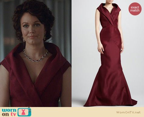 Fashion of Scandal: J. Mendel Shawl Collar Mermaid Gown worn by Bellamy Young