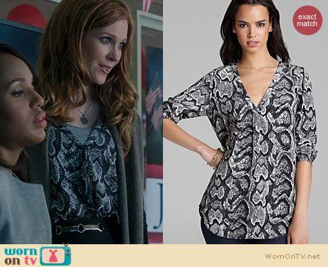 Fashion of Scandal: Joie Daryn Snakeskin Blouse worn by Darby Stanchfield