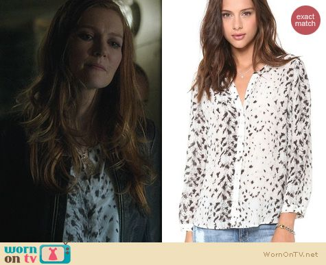 Scandal Fashion: Joie Purine Leopard Top worn by Darby Stanchfield