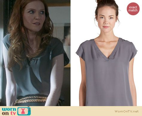 Scandal Fashion: Joie Rubina Top in Steel worn by Darby Stanchfield