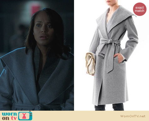 Scandal Fashion: Max Mara Eliana Coat worn by Kerry Washington