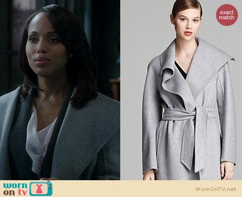 Scandal Fashion: MaxMara Eliana Coat worn by Kerry Washington
