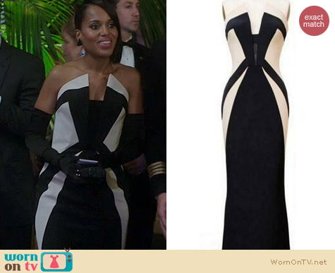 Scandal Fashion: Rubin Singer F/W 2013 Gown worn by Kerry Washington