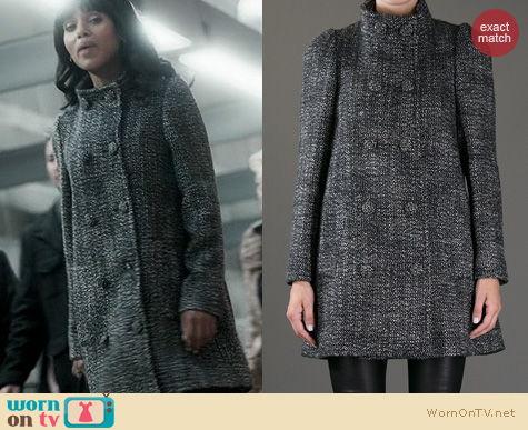 Scandal Fashion: Stella McCartney Double Breasted Coat worn by Kerry Washington