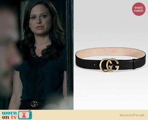 Scandal Style: Gucci Double G Belt worn by Quinn Perkins