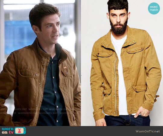 Scotch & Soda Canvas Jacket worn by Grant Gustin on The Flash