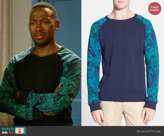Scotch & Soda Mix & Match Crewneck Sweatshirt worn by Lamorne Morris on New Girl