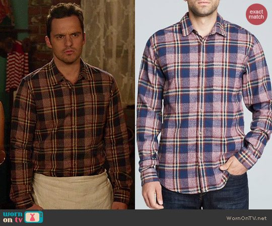 Scotch & Soda Plaid Work Shirt worn by Jake Johnson on New Girl