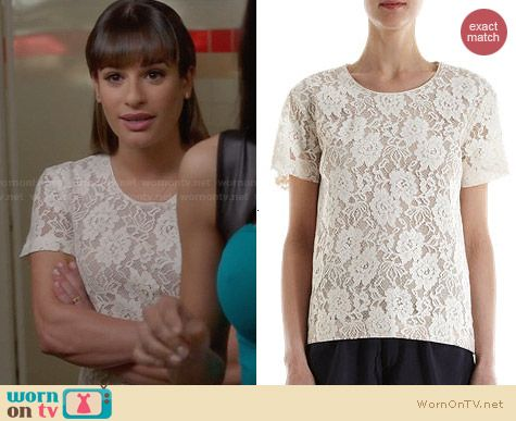 Sea NY Boxy Lace Top worn by Lea Michele on Glee