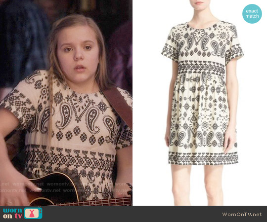 Sea Embroidered Split Back Dress worn by Maisy Stella on Nashville