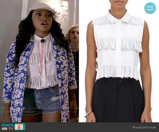 Sea Fringe Sleeveless Shirt worn by Zayday Williams on Scream Queens