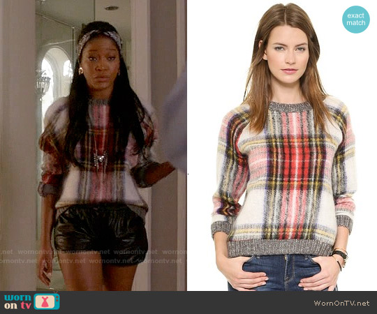 Sea Oversized Plaid Pullover worn by Keke Palmer on Scream Queens